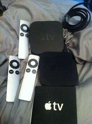 2 Apple Tv Boxes 3 Remotes Used