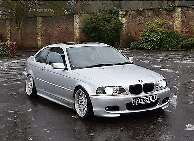 BMW 330CI M SPORT Manual Black Leather Silver Coupe