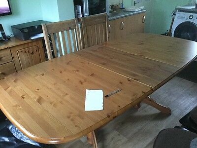 Kitchen Large Table 4 Chairs