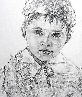 Drawing portrait from your photo - Custom pencil portrait