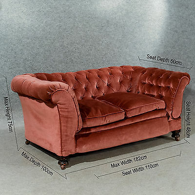 Antique Chesterfield Settee Couch Victorian Period Drop End Sofa English c1890