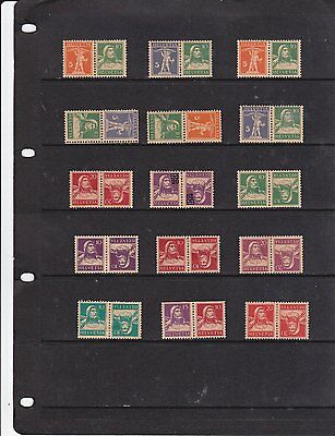 A selection of older stamps, 1910 on , from Switzerland.