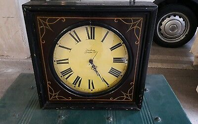 Vintage Square Wooden Encased Wall Clock GWO