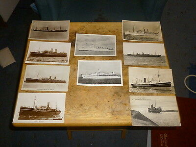 P&0 Shipping Line Postcards - Job Lot 10 Org Cards incl. S.S Marmora variable cd