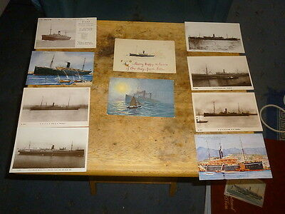 P&0 Shipping Line Postcards - Job Lot of 10 Org Cards, incl S.S Devanha variable