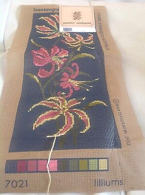 Liliums Tapestry Canvas Baxstitch needlepoint NEW