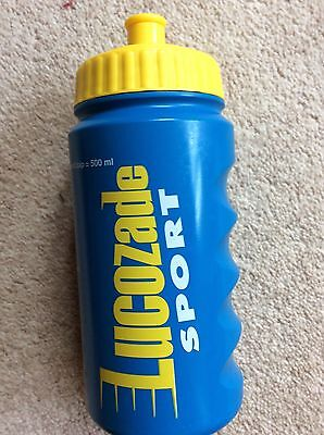 NEW LUCOZADE SPORTS BOTTLE BLUE DRINKS WATER LARGE CAP 500ml EASY FILL & GRIP