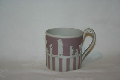Wedgwood Lilac Coloured Jasperware Coffee Can/mug