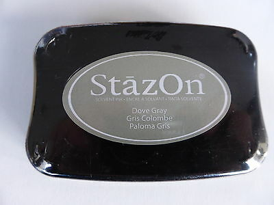 *NEW* Tsukineko STAZON Full Size Permanent Solvent Ink Pad 'DOVE GRAY'