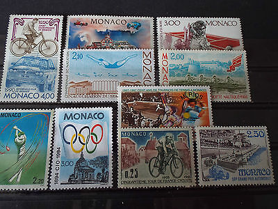 Lot 10 timbres neuf MONACO : Sports divers