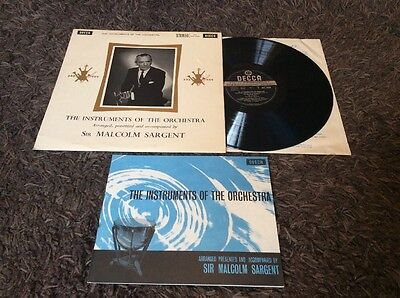 SXL 2199 - Instruments Of The Orchestra - Malcolm Sargent LP NM / EX+1st UK Ed