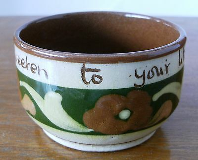 Very collectible Vintage Motto ware sugar bowl