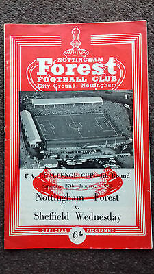 Nottingham Forest v Sheffield Wednesday FA Cup 4 1962