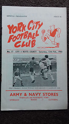 York City v Notts County 1965