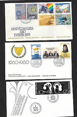 Cyprus 3 Covers 1980 Palestinian 1980 Republic 1979 Anniversaries & Events