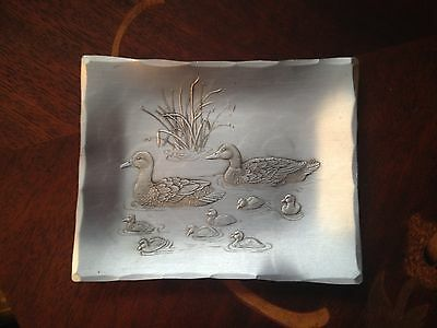 Vintage Wendell August Forge  DUCK HUNTING Collectors GREAT Piece