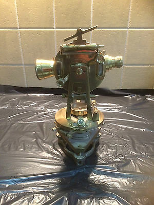 Large Brass Theodolite Surveyors Level ~Ross London ~ Vintage Reproduction