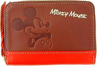 Mickey Mouse leather coin purse leather coin case / Basic Art Collection Disney