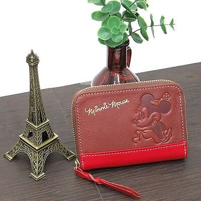Minnie Mouse leather coin purse leather coin case / Basic Art Collection Disney
