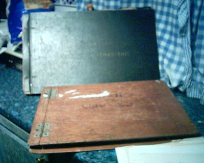 Rare Hms Eagle / Audacious Aircraft Carrier Wooden Cased Plans Drawings On Cloth