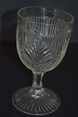 Eapg Ribbed Palm By Mckee Bros Flint Crystal Goblet