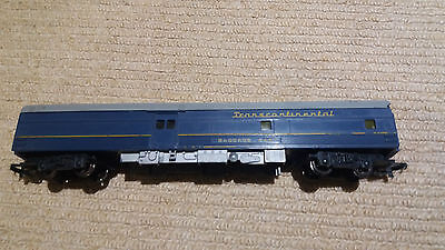 OO Gauge Triang Blue Transcontinental Coach - R446 - some roof damage