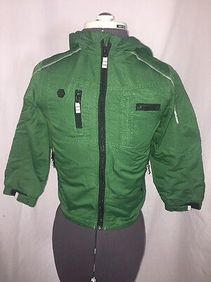 LONDON FOG Kids Winter/Fall Green Jacket Coat with hood Youth Size 7