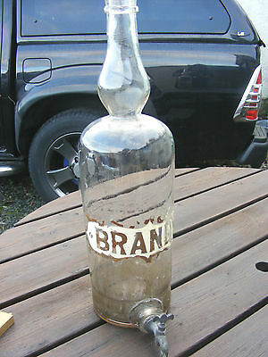 Antique Brandy Dispenser Bottle With Tap Apothecary Chemist?