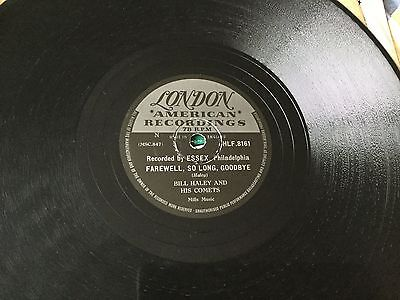 BILL HALEY FAREWELL SO LONG GOODBYE RECORD 78 rpm