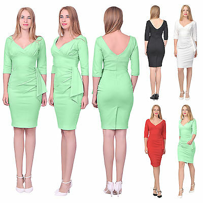 Womens Vintage Retro 1960s Dress Pencil Wiggle Cocktail Party Formal