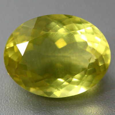 11.580 Cts UNIQUE FLAWLESS AWESOME ATTRACTIVE NATURAL GOLDEN YELLOW PRASIOLITE
