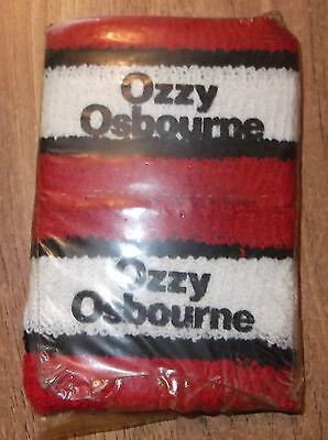 Ozzy Osbourne terry cloth wrist (sweat) bands set of 2 Vintage NEVER OPENED