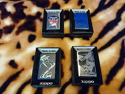 Zippo Lighters 4 In Total  New With Box
