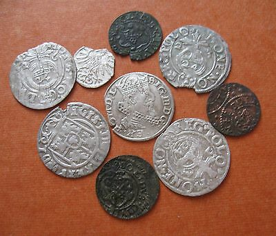POLAND Silver and copper medieval coins 1556-1642