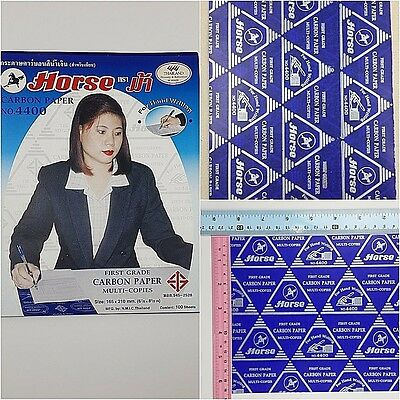 12 SHEETS A5 165 x 210 MM. BLUE CARBON PAPER HAND COPY TRACING PAPER STENCILING