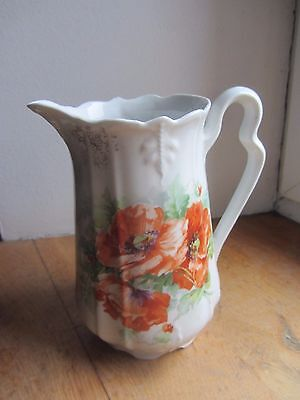 Ancien Pichet Porcelaine Decor Floral
