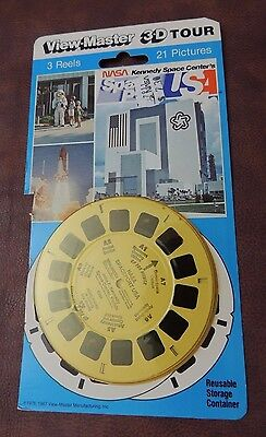 VIEW-MASTER 3D NASA KENNEDY SPACE CENTRE USA- 3 Reels Set-21 PICTURES-1987