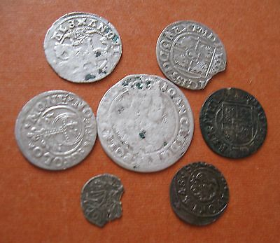 POLAND Silver and copper medieval coins 1500-1665
