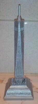 Freedom Tower New York City silver base 5.5 inches high one world trade center