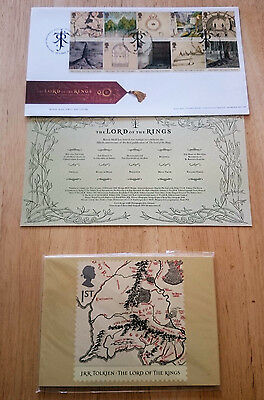 J R R Tolkien Lord Of The Rings 1St Day Cover Stamps & Postcards 2004 The Hobbit