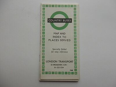 london country bus map 1968