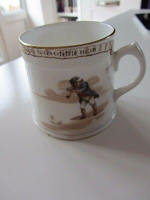 Antique Royal Doulton Series Ware Nursery Rhymes 'The was a little man' mug