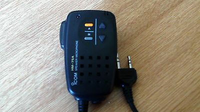 ICOM HM-75A Speaker Microphone with Remote Control for Handheld Radio