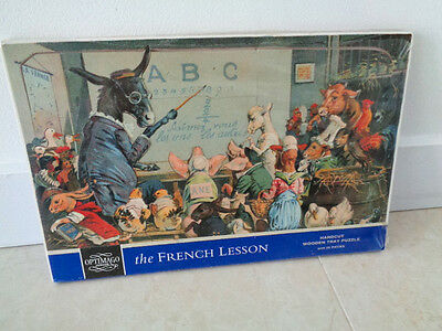 Vintage Never Used Wooden Handcut Optimago Junior Puzzle The French Lesson