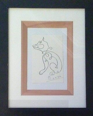 Pablo Picasso - Le Chien - Framed original drawing on Paper
