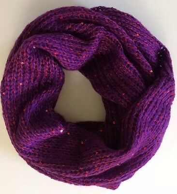 Knitted Tube Scarf in Bordeaux Color
