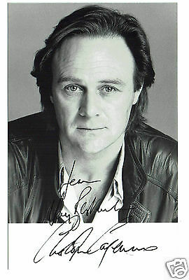 christopher cazenove British Actor Hand  Signed Photograph 5 x 3