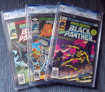 Marvel Premiere #51 #52 #53 Black Panther! All CGC 9.6