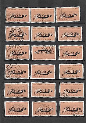 Cyprus Used 1966 Postmarks Collection Rural + + 18 stamps Good Mix Collection ..