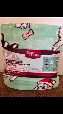 Dog Print Fleece Blanket